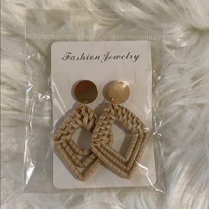 BRAND NEW Rattan/Bamboo Earrings
